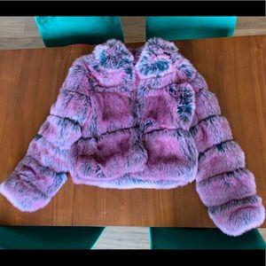Carli Bybel x MISSGUIDED Faux Fur Coat NWT! Sz 2